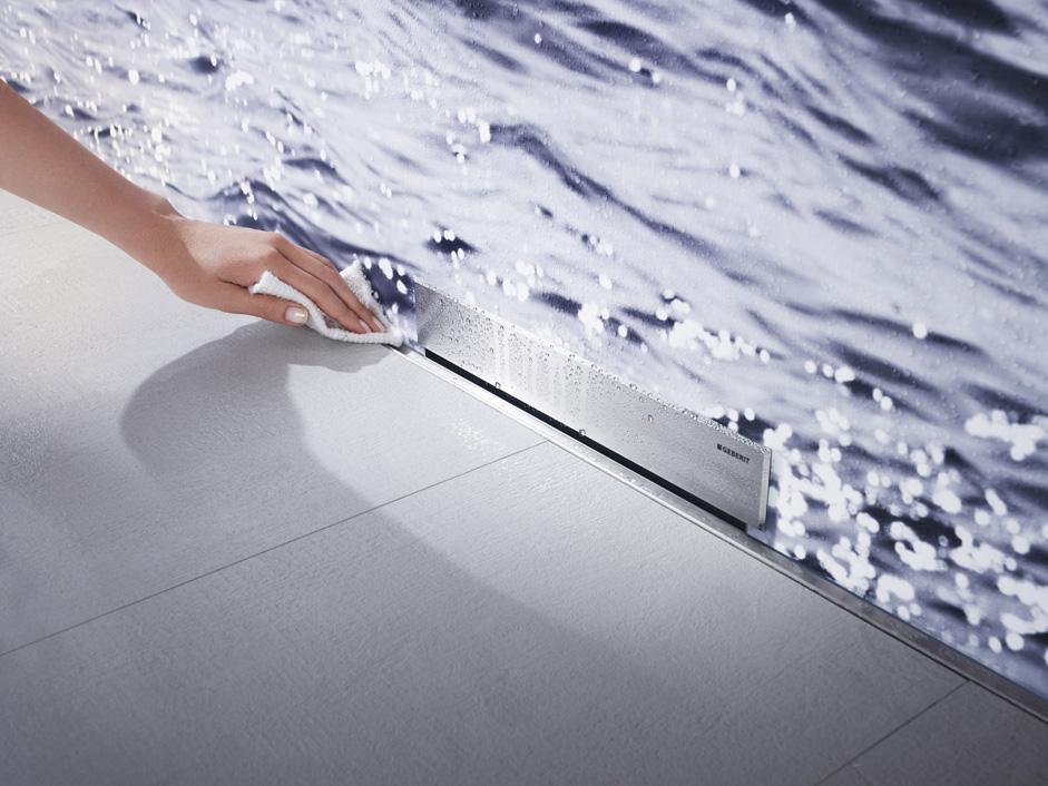 geberit wandablauf f r duschen. Black Bedroom Furniture Sets. Home Design Ideas